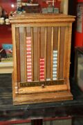 Early 1900s Clarkand039s Mile-end Spool Cotton Counter Display Case Cabinets