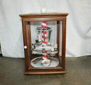 Custom Concord Display Case With Misc. Vintage Barber Shop Items Clippers Razor
