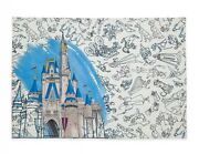 Disney Parks Ink And Paint Cloth Placemat New