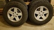 2013 Jeep Wrangler Unlimited 17 Oem Tires Rims And Tpms Sensors Package