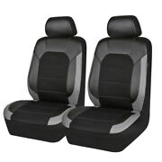 Car Pass Car Seat Cover Sandwich Leather Universal Breathable For 2 Front Seats