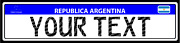 Custom Argentina Reflective Mercosur License Plate Tag Reproduction