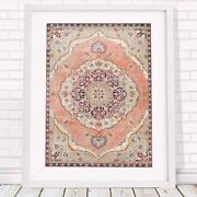 Lotus Trader - Floral Medallion Pattern Poster Picture Print - Sizes A5 To A0