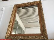 Antique Mirror '800 Glass Mercury Frame Wood And Pad 32 5/16x25 5/8in