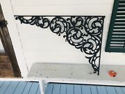 Best Large Intricate Flower Quality Antique Cast Iron Hanging Store Sign Bracket
