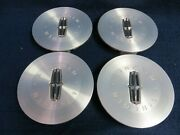 Lincoln Mkz 10-12 Machined Center Caps - Set Of 4 - Fits The 17 9 Spoke Wheel