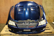 Jdm Toyota Altezza Rs200 Lexus Is300 Front End Bumper Trd Lip Vented Hood Hid