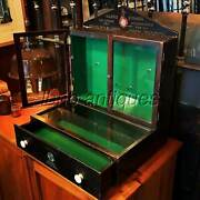 Rare And Original Early 1900s Store Vending Display Cabinet. Durro Musical Strings