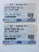 Beatles Ringo Starr Front Row Bournemouth 2011 Concert 2x Tickets Uk Mint