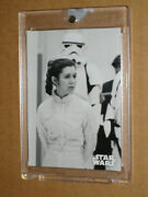 Carrie Fisher Leia 2019 Star Wars Black And White Blank Back 1/1 Topps Vault Movie