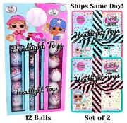 2 Lol Deluxe Present Surprise Dolls And Pets + 12 All Star B.b.s Baseball Balls