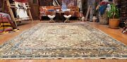 Exquisite Antique 1940-1950and039s Muted Dye Wool Pile Hereke Rug 7x10ft