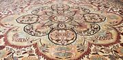 Exquisite Antique 1940-1950and039s Muted Dye Wool Pile Hereke Area Rug 7x10ft