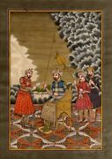 Messenger Is Reading Message For The Emperor Finest Rare Art India Mughal Paint