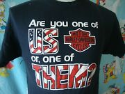 Vintage Harley Davidson Motorcycle Are You One Of Us Or One Of Them T Shirt M