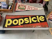 Amazing Vintage Popsicle Metal Sign Gas Oil Soda Cola Bright Vibrant Colors