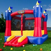 In/outdoor Castle Inflatable Bounce House Blower Bouncer Jump Slide Kids Party