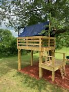 Childrenand039s Playhouse Tree Fort Deck
