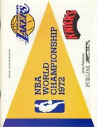 1972 Los Angeles Lakers New York Knicks Game 5 Finals Program Lakers Clinch