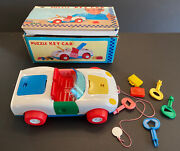 Vintage A-1 Asakusa Toy Puzzle Key Car Pull Toy With Original Box Made In Japan