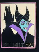 Rare Disney Auctions Pin Le1000 Le P.i.n.s. Maleficent Castle New On Card L8