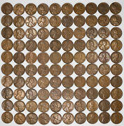 1930 D Lincoln Wheat Cent 1c G - Vf+ Good - Very Fine 10 Full Rolls 500 Coins