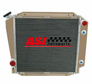 4 Rows Aluminum Radiator For 1966-1977 1975 1973 Ford Early Bronco V8
