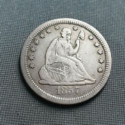 United State Liberty Seated Quarter Dollar 1857 S Rare And Low Mintage