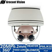 New Arecont Vision Av20365dn-hb 20mp 360˚ Ip Panoramic Day/night Camera -ob