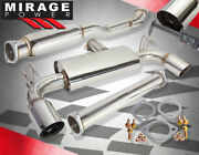 For 08-15 Mitsubishi Lancer Evo X Performance Dual Catback Exhaust S/s System