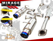 For 2013-2016 Frs Brz Gt86 Zn6 Performance S/s Dual Catback Exhaust 4 Burnt Tip