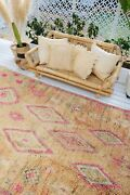 Mata Oversized Faded Apricot Vintage One Of A Kind Moroccan Rug 335cm X 195cm