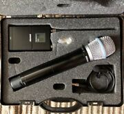 Shure Wireless Microphone Kit Ur1 Tx W/ Mic And Ur2/beta87a Hh Tx In Case, J5