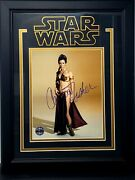 Carrie Fisher Signed Star Wars 8x10 Photo Opx Framed Psa/dna Ae92433 Grade 10