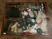 2004 E3 God Of War Kratos Debut Promo Poster Ps2 Playstation 2 Extremely Rare