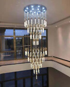 Luxury Dimmable Led Bubble Crystal Pendant Lamp Villa Living Room Stair Lighting