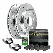 For 1995-2004 Toyota Tacoma Hart Brakes Front Silver Zinc Cross Drilled Slotted