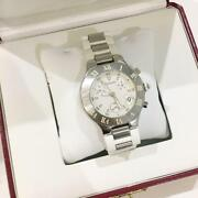Auth Watch Analog Antique Date White Dial Free Shipping