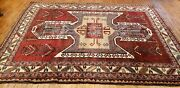 Beautiful Vintage 1960-1970and039s Multi-colored Wool Pile Armenian Rug 5and0395andtimes7and0393
