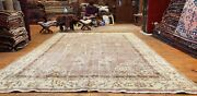 Beautiful Late 1930and039s Antique Natural Dyewool Pile Oushak Area Rug 7and039x10and0398