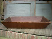 Antique 19th C Apple Tray Box Canted Sides Pine Boards Large 31