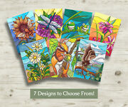 5 For 20 Rustic Arts Studio Assorted Stained Glass Blank Card Collection