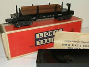 Lionel Pw 3461 Black Automatic Lumber Car W/ Box, And Instructions