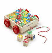 Melissa And Doug Abc Block Cart - Classic Wooden Toy - Educational Toy - New