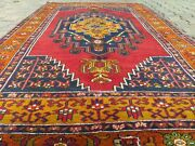 Exquisite Antique Multi-colored Wool Pile Bohemian Area Rug 4and0394andtimes8and03910