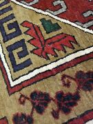 Antique Cr1900-1939and039s Wool Pile Natural Color Nagorno-karabahk Area Rug 6x9ft