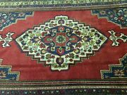 Beautiful Antique 1930-1945and039s Natural Color Wool Pile Tribal Area Rug 7x11ft