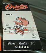 1958 Baltimore Orioles Spring Training Roster Media Guide Schedule