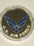 United States Air Force Silver Enameled 1 Oz Round Us Military Medallion