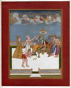 An Illustration From The Ramayana Rama With Vashishtha Religious Finest Painting